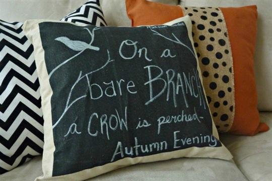 Fall Harvest Pottery Barn Knock Off DIY Chalkboard Pillow