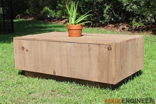 Free Modern Floating Coffee Table Plans