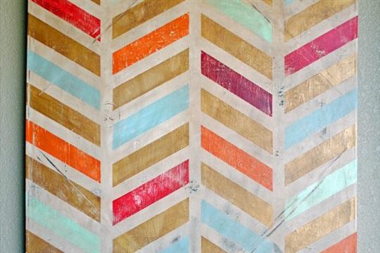 DIY Herringbone Canvas Art A Step by Step Tutorial Kristi's Paintbrush Kristi's Paintbrush