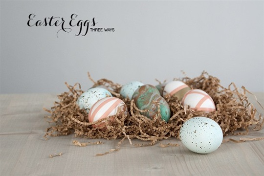 Easter Eggs Dipping, Marbling, and Speckling