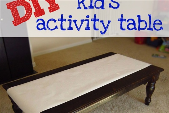 DIY kid's activity table