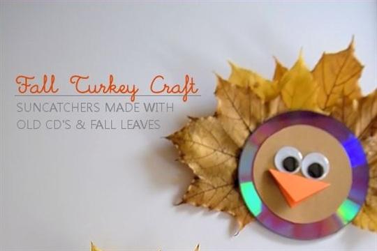Suncatching Fall Leaf Turkey Craft