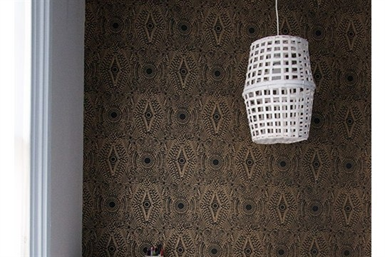 DIY Project Woven Ceiling Light