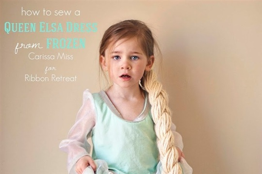 How to sew a Queen Elsa of FROZEN dress