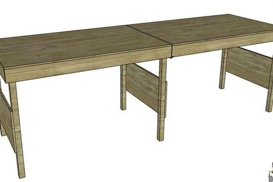 DIY Portable Workbench or Folding Table