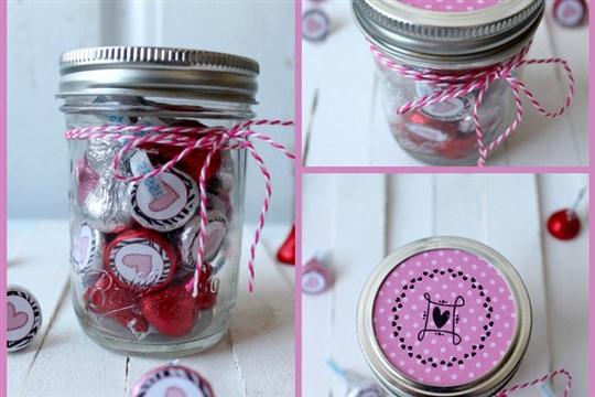 Hershey Kiss Valentine Jars
