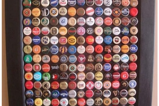 Bottle Cap Wall Art recycled bottle cap wall art - craftsmile