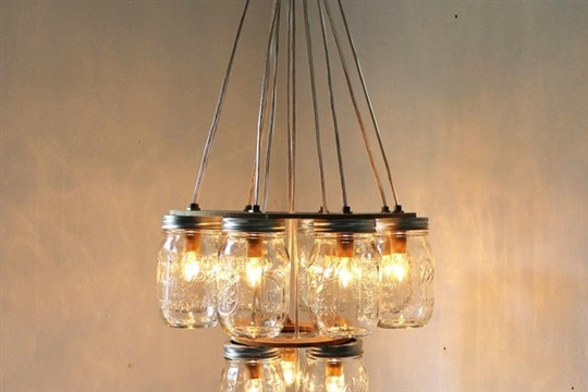 How To Make a Light Fixture from Ball Jars