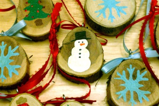 Tree Branch Ornaments by Laura Makes