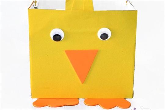DIY Easter Basket Chick Craft for Kids