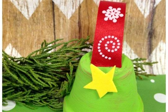 Flower Pot Christmas Tree Ornament