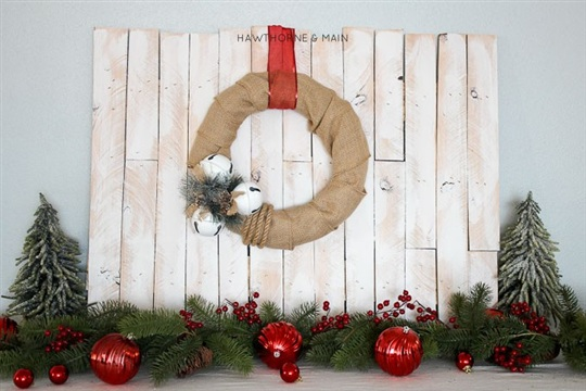 Jingle Bells Burlap Wreath