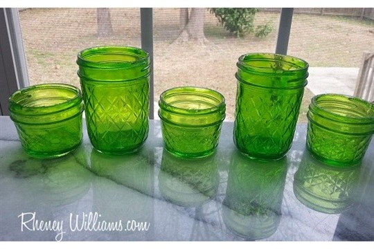 DIY Tinted Upcycled Glass Jars Guest Post by Rheney Williams