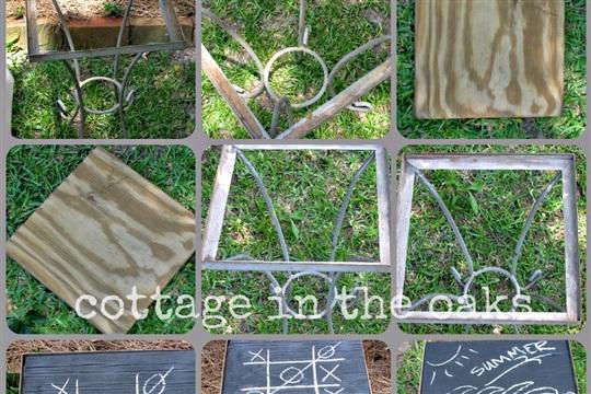 Outside Chalkboard Tables {DIY Chalkboard}