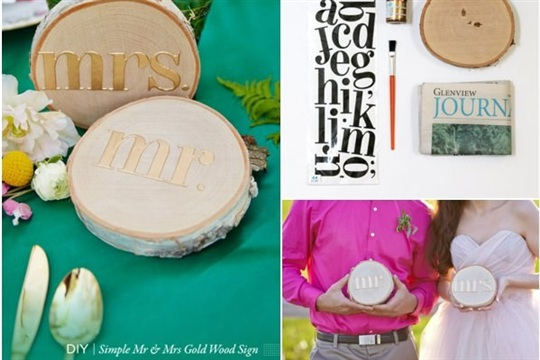 DIY - Mr & Mrs Rustic Signs