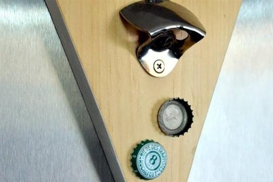 Scrap Wood DIY Magnetic Bottle Opener #sCrapWoodChallenge