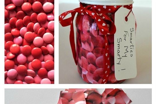 Mosaic Valentine Candy Jar Craft