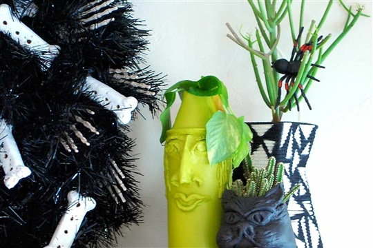 Halloween Horticulture How to Make Spooky Air Dry Clay Planters