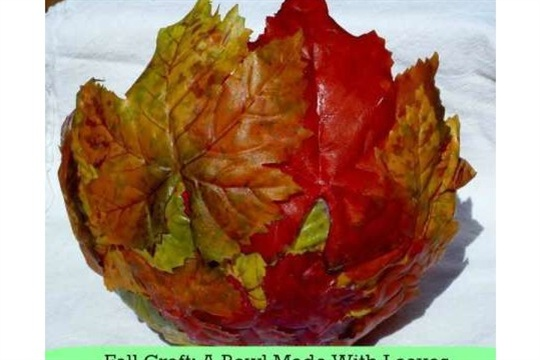 Nature Crafts - Fall Leaf Bowl